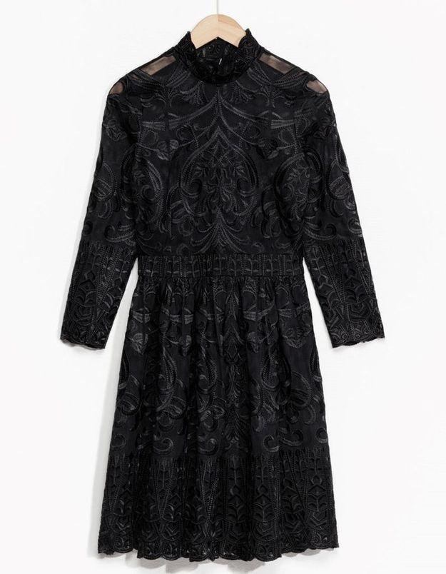 Robe à manches longues noire & Other Stories
