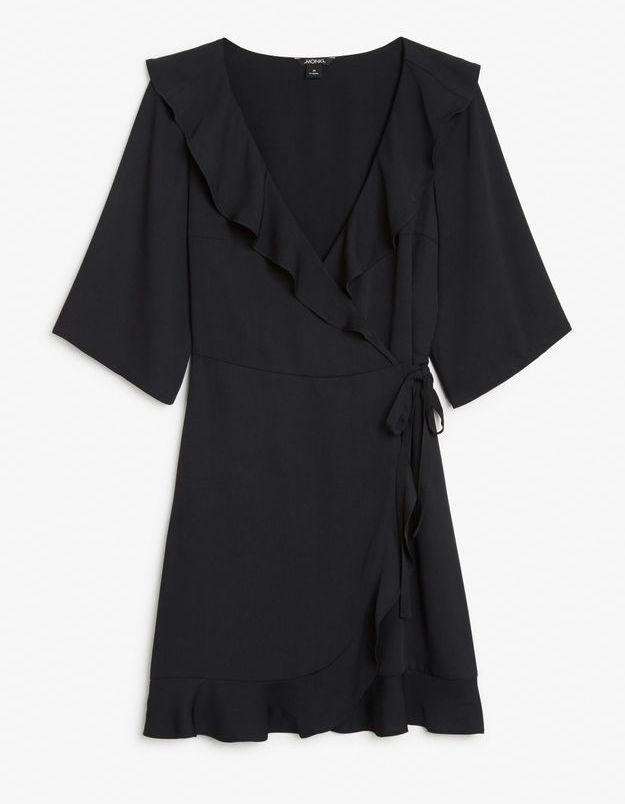 Robe noire à volants Monki