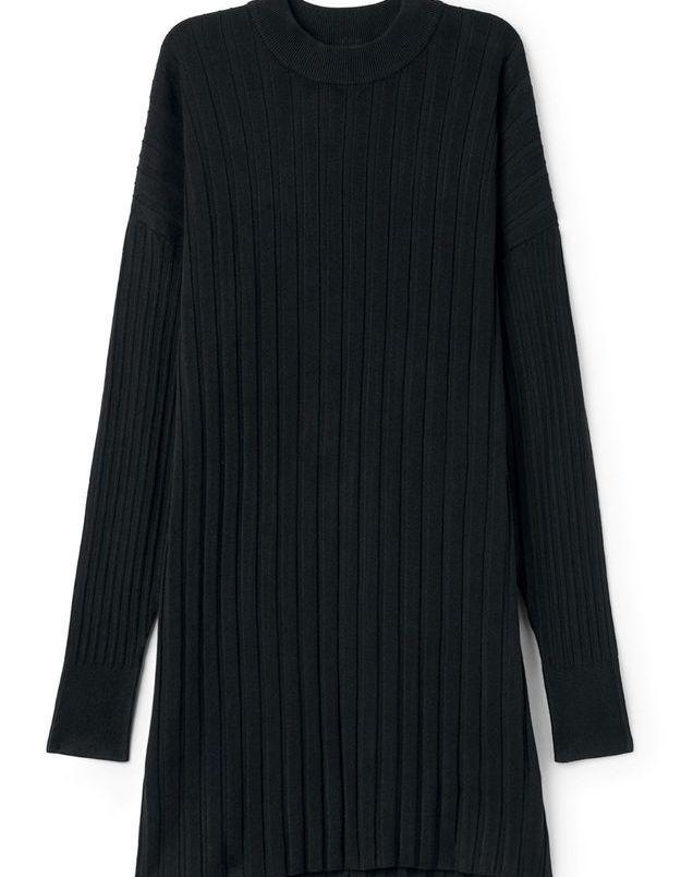 Robe noire en maille Weekday