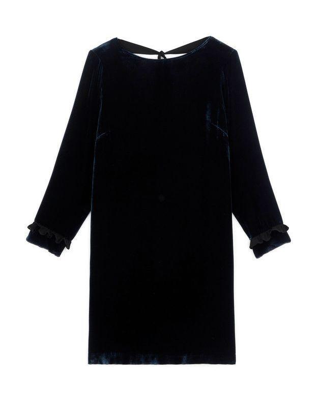 Robe noire en velours Somewhere