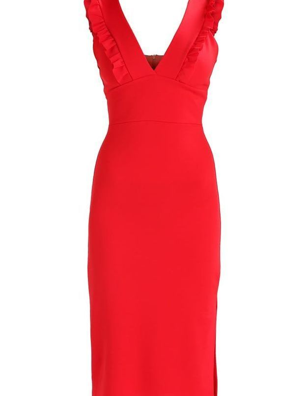 Robe rouge fendue Wal G