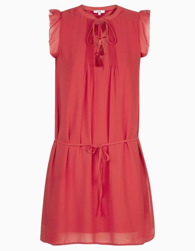 Robe rouge légère La Halle