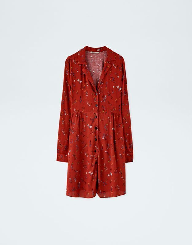 Robe rouge Pull & Bear