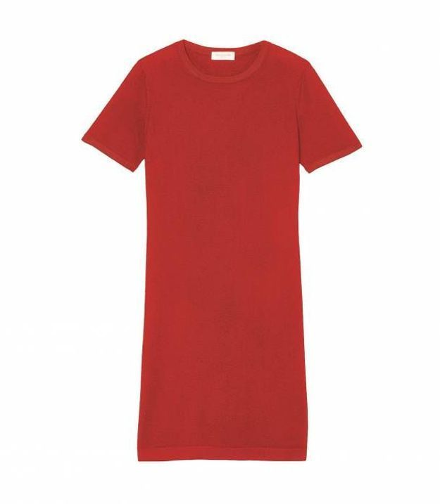 Robe rouge pull Eric Bompard