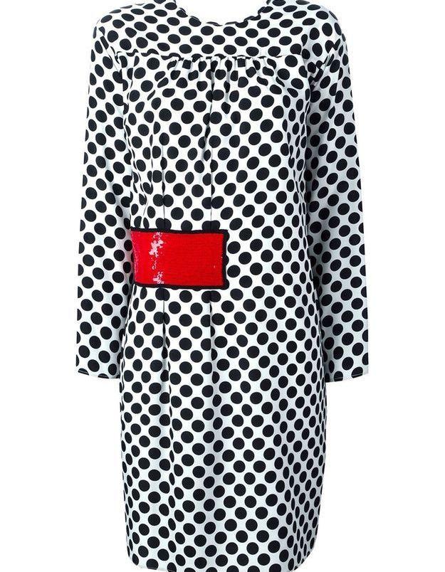 Robe à pois color block MSGM