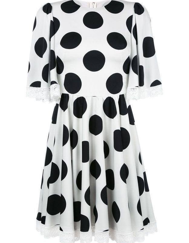 Robe à pois courte Dolce & Gabbana