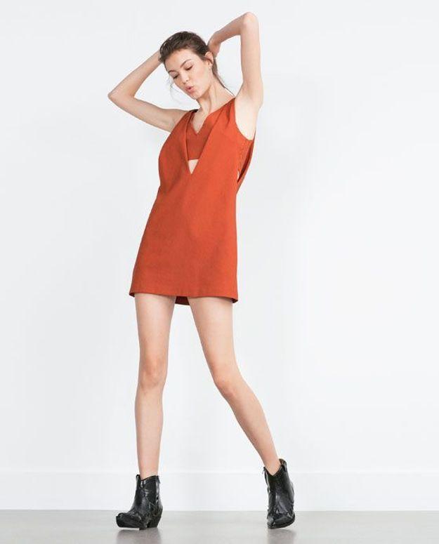 Robe orange Zara