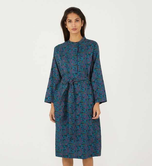 Robe bleue Galeries Lafayette