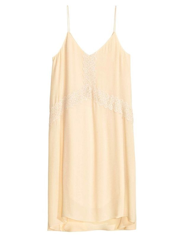 Slip dress beige H&M