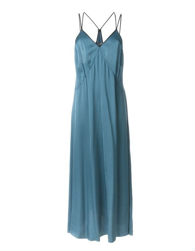 Slip dress bleue Forte Forte