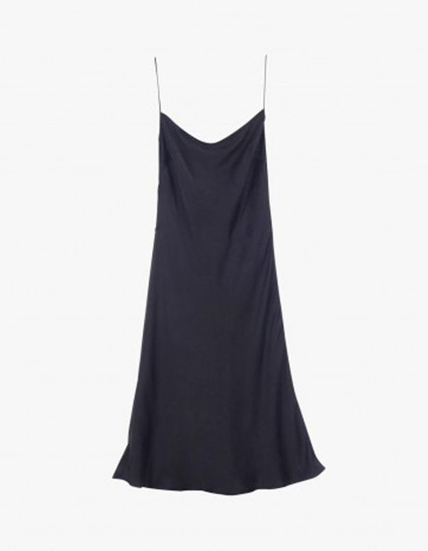 Slip dress navy Equipment x Kate Moss