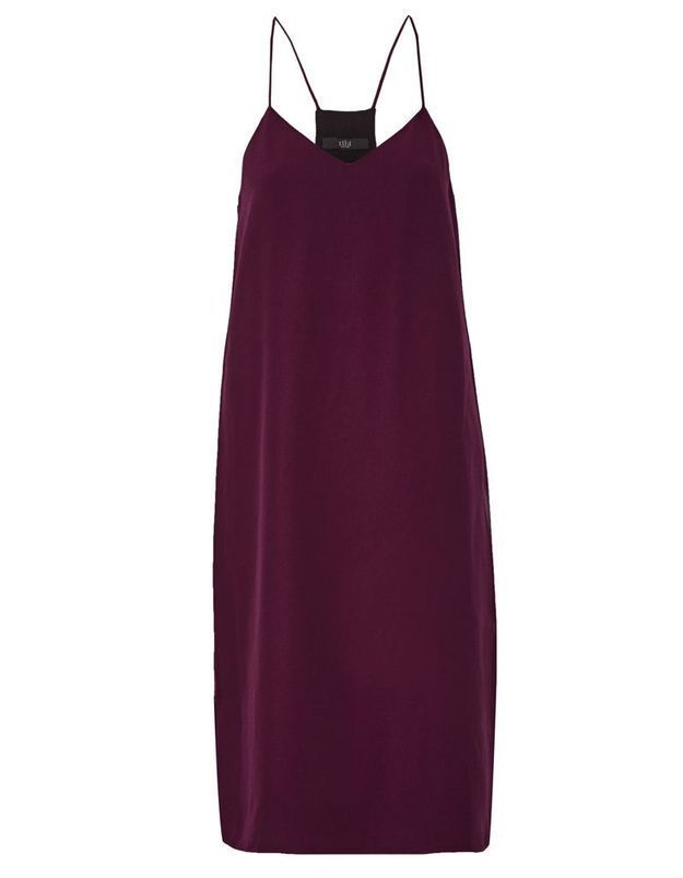 Slip dress rouge Tibi
