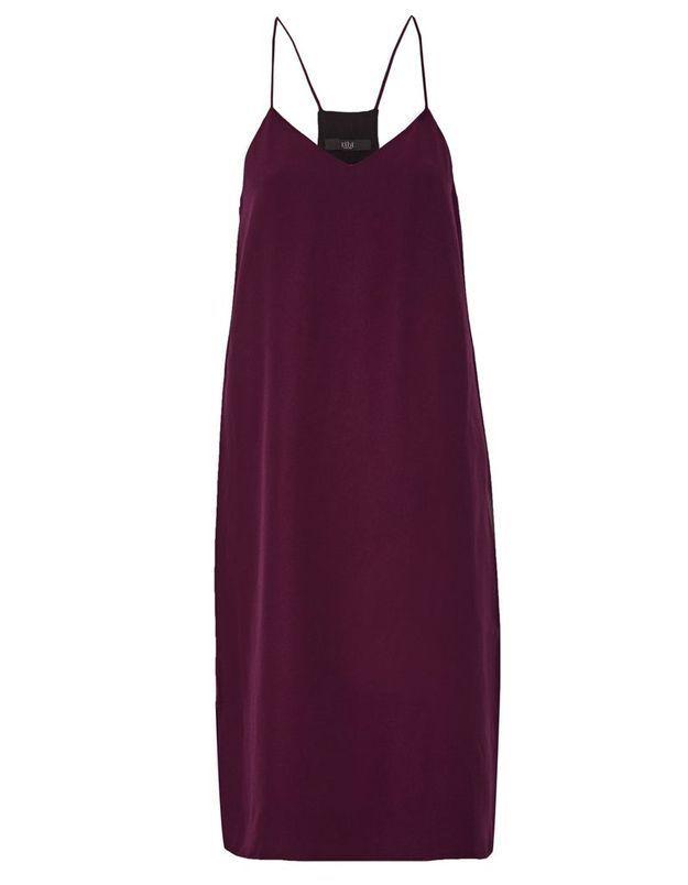 Slip dress rouge Tibi