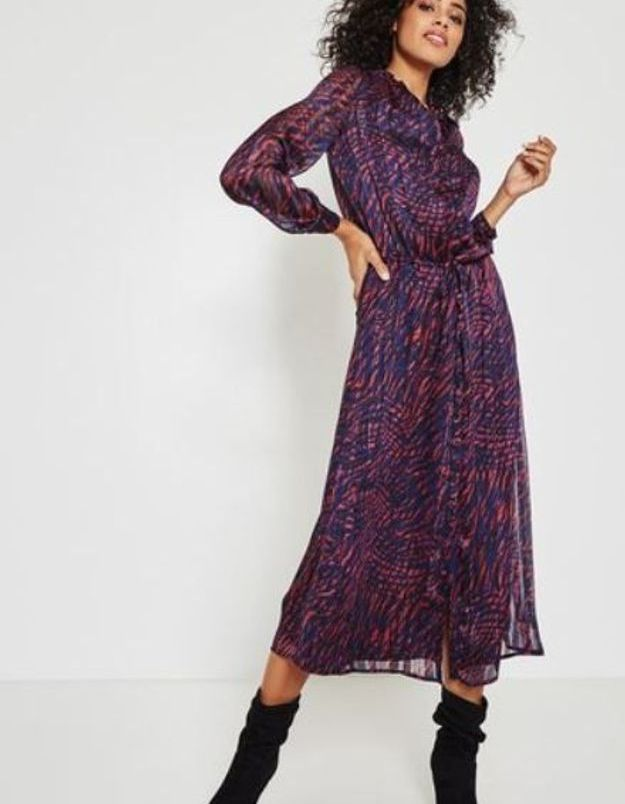 Promod, robe longue imprimée