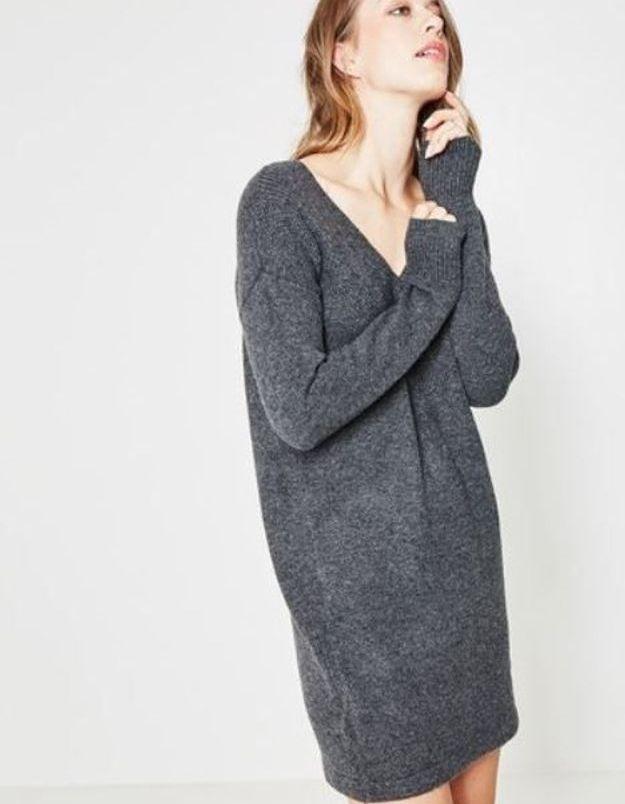 Promod, robe pull col V