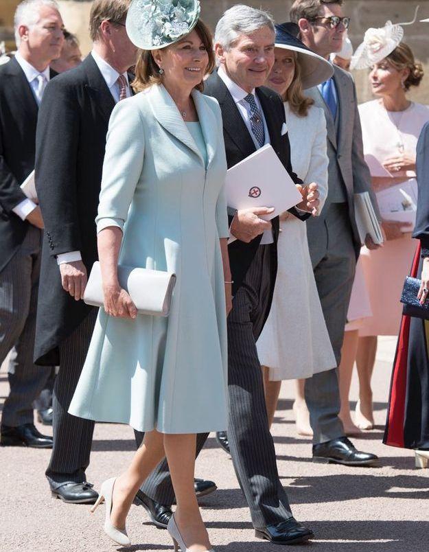 Carole Middleton en robe bleu ciel