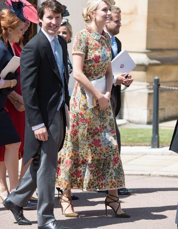 Sofia Wellesley en sublime robe brodée de fleurs