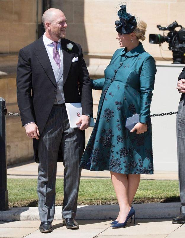 Zara Phillips Tindall en robe vert foncé