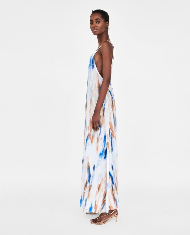 Maxi dress tie-dye Zara