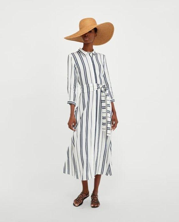 Tunique longue à rayures Zara