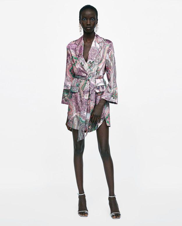 Robe veste imprimé cachemire Zara
