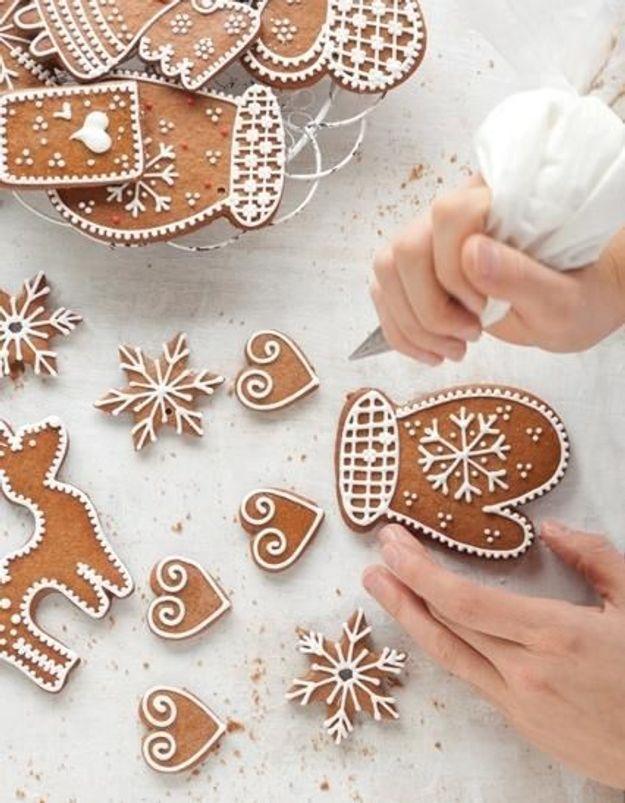 Biscuits en pain d'épices décorés