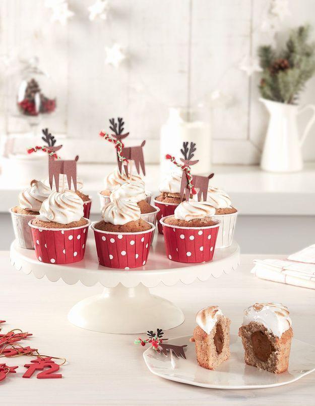 Comment faire des cupcakes de Noël au Nutella ?