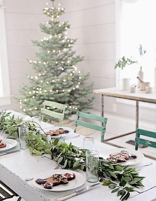 Une table de fête épurée
