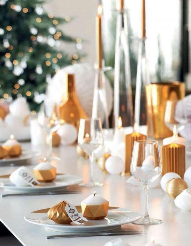 Une table de fête lumineuse