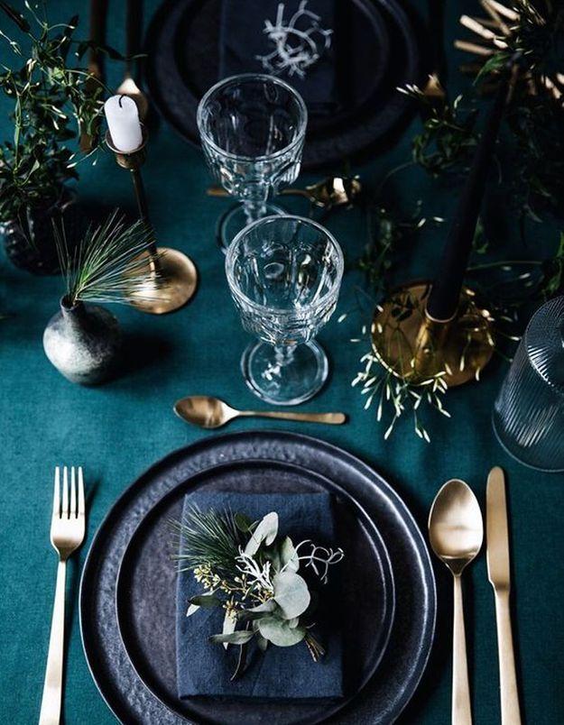 Une table de fête moderne