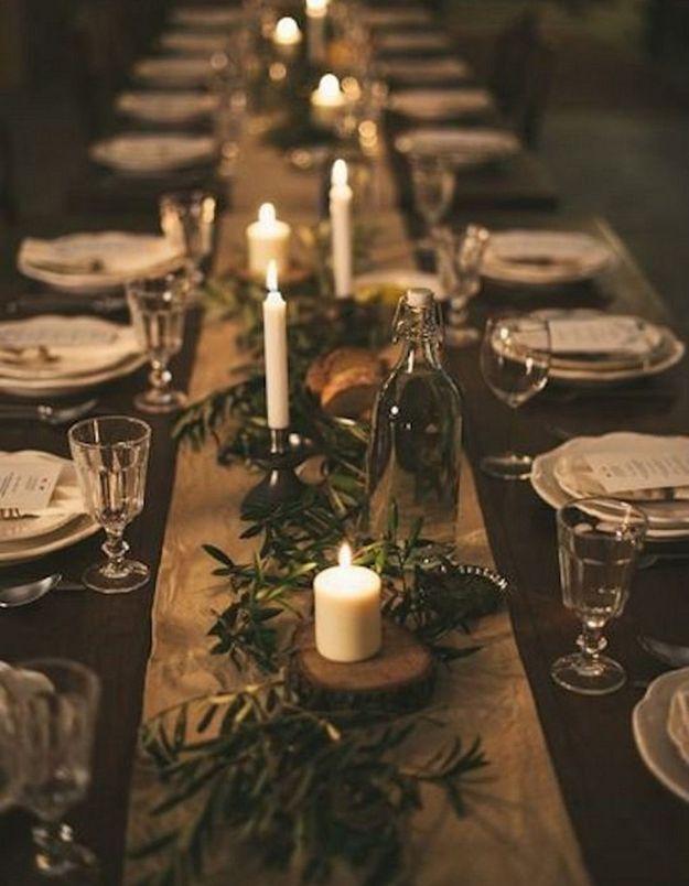 Une table de fête romantique