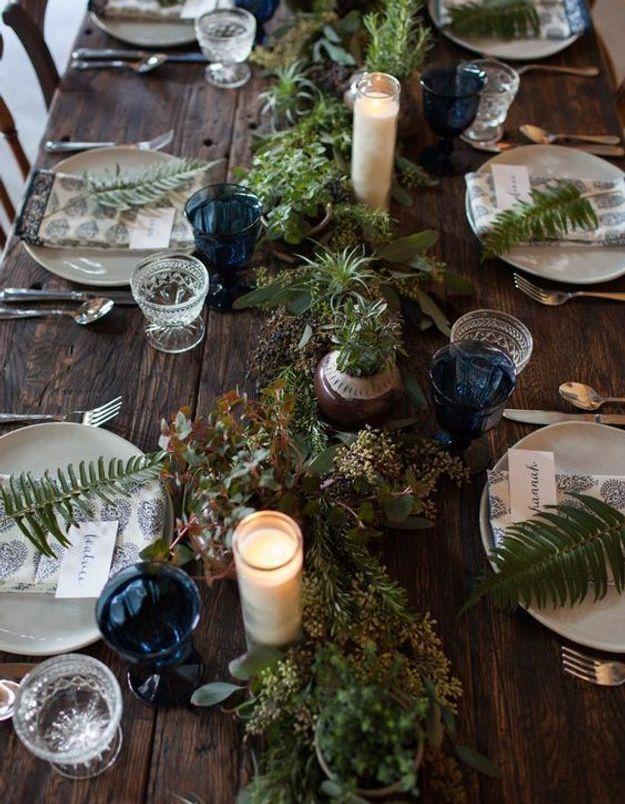 Une table de fête rustique chic