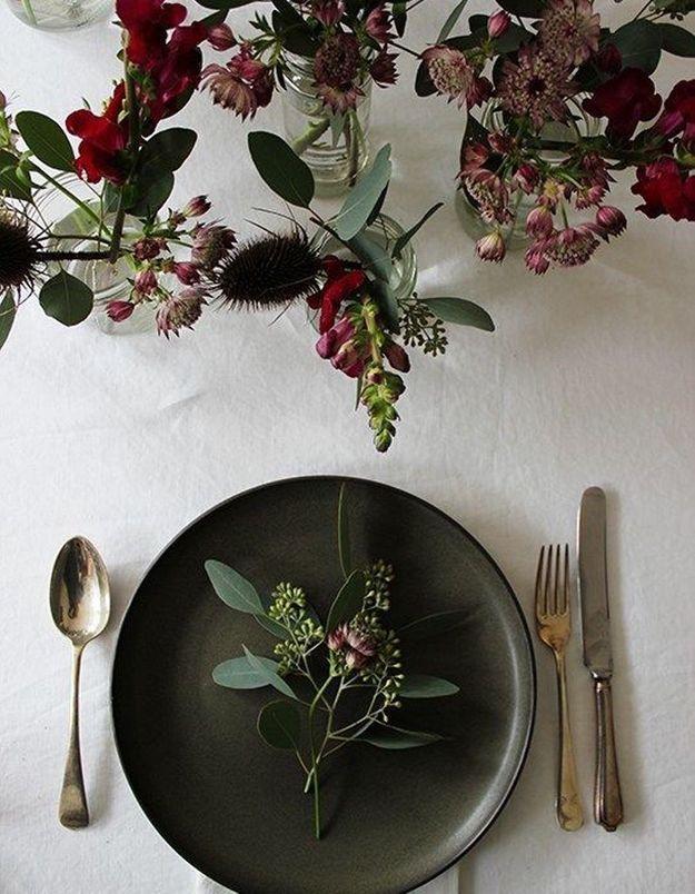 Une table de fête sobre