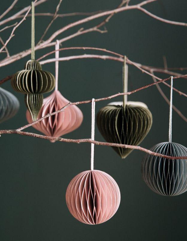 Boule de Noël façon origami