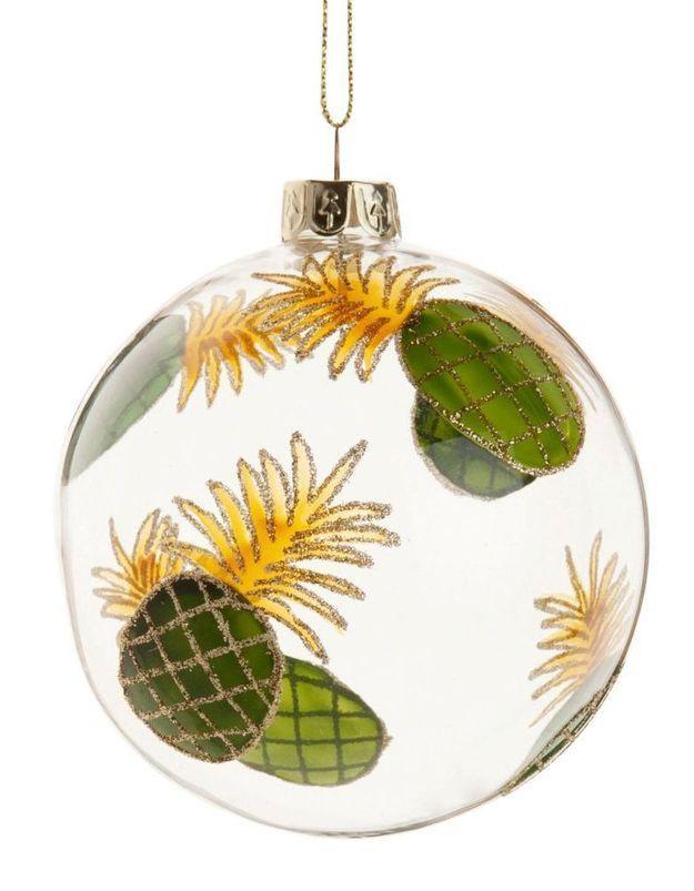 Boule de Noël en verre ananas