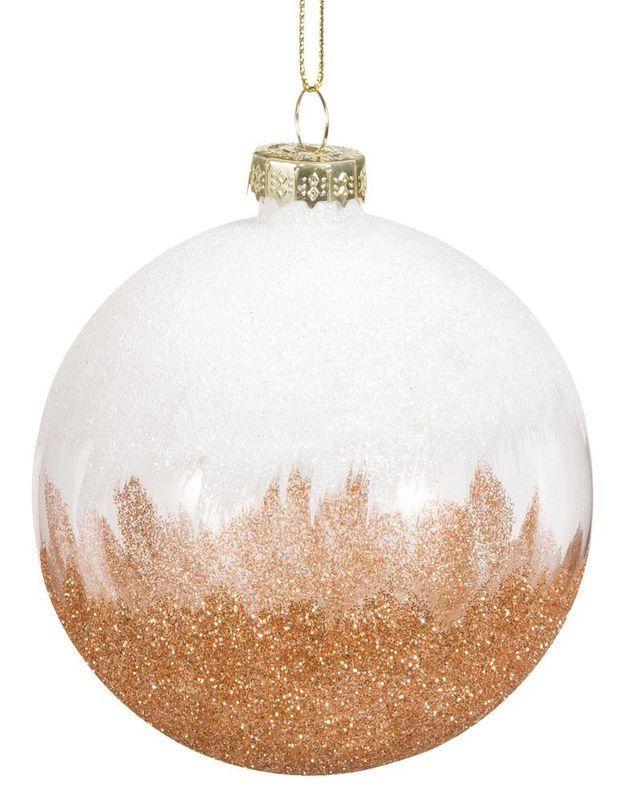 Boule de Noël en verre bicolore