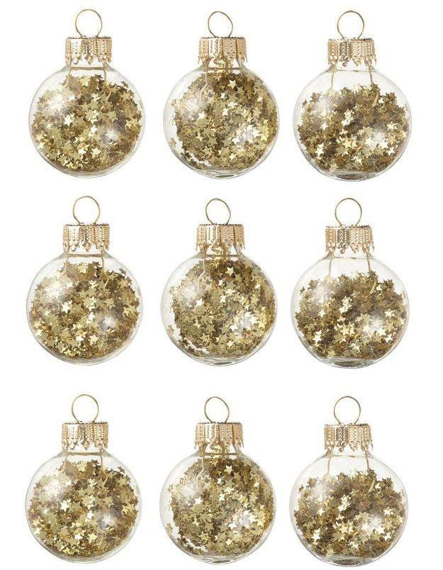 Boule de Noël en verre étoilées