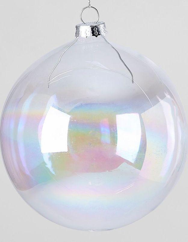 Boule de Noël en verre façon bulle de savon