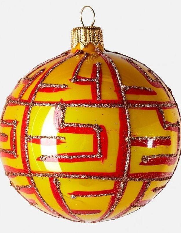 Boule de Noël en verre graphique