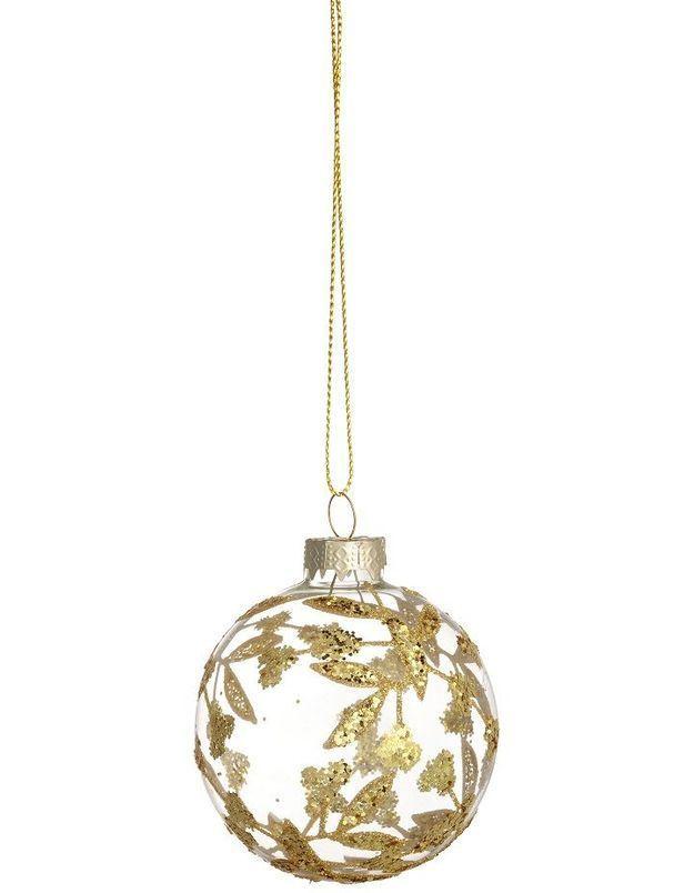 Boule de Noël en verre scintillante
