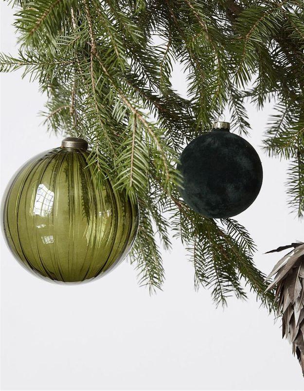 Boule de Noël en verre translucide