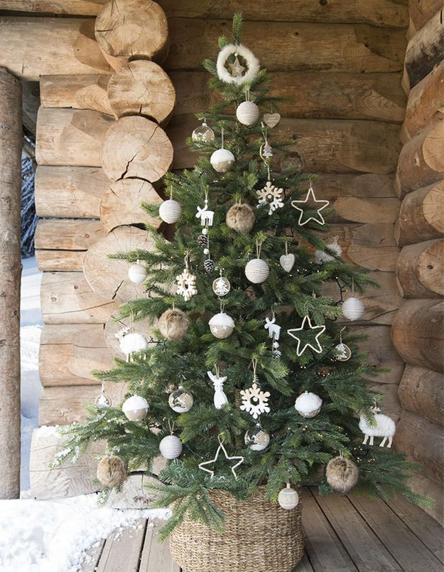 Arbre de Noël esprit chalet