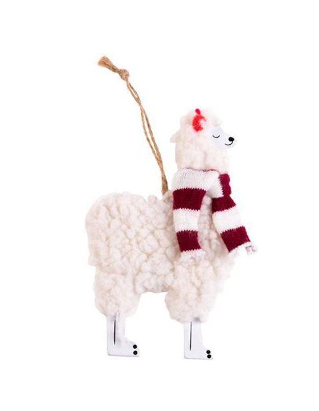 Un lama pour la déco du sapin
