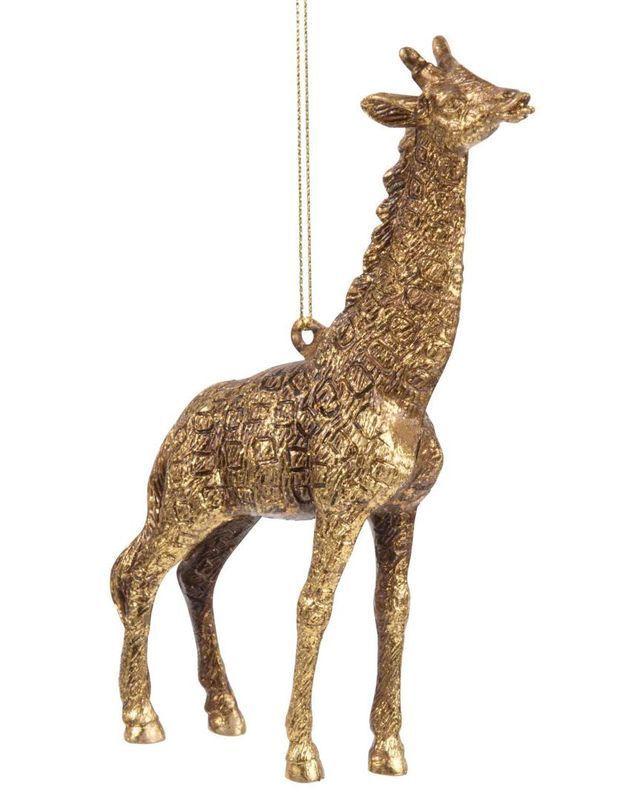 Une girafe dorée pour la déco du sapin