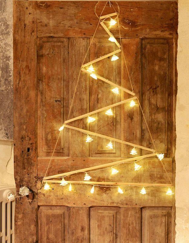 Faux sapin de Noël déstructuré