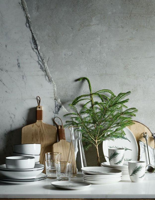 Vaisselle de Noël transparent H&M Home