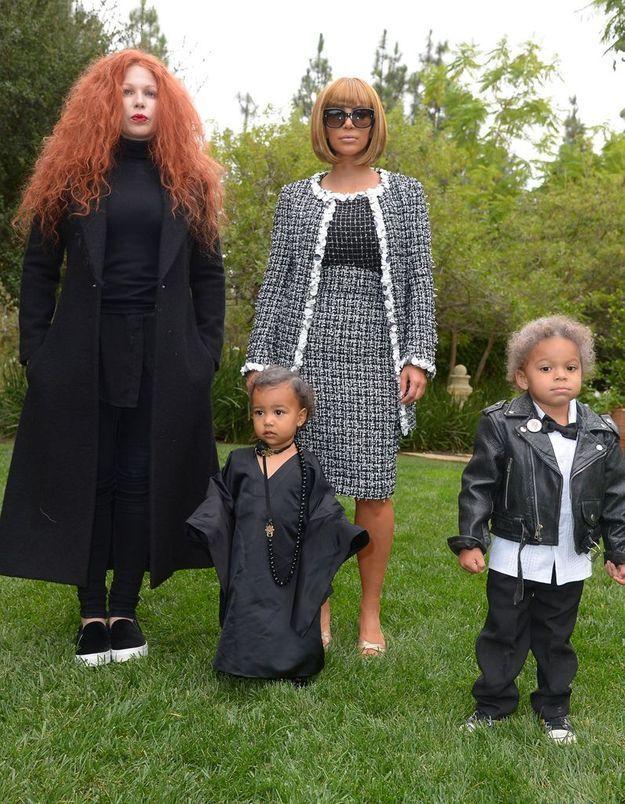 Les costumes de Kim Kardashian, North West et leurs amis