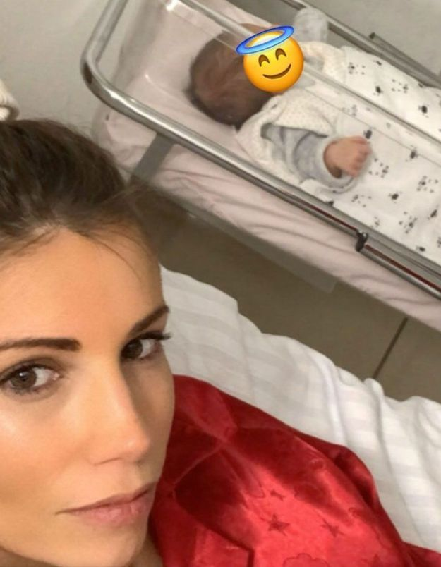 Alexandra Rosenfeld : un premier selfie avec sa fille Jim