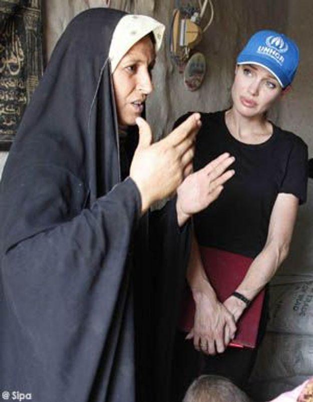 Angelina Jolie admire le courage des familles en Irak