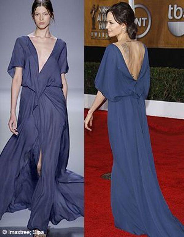 Angelina Jolie met sa robe à l'envers